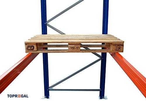 Palettenregal Industrieregal 7,6m breit, 3m hoch, 110cm tief, 3 Ebenen – Hochregal Schwerlastregal - 2