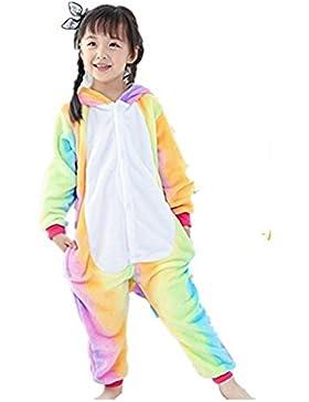 Kinder Unisex Einhorn Tiere Loungewear Pyjamas Partywear Nachtwäsche Cosplay Kostüme