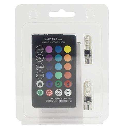 Safego T10 Auto Lampada Atmosfera Luce a LED Con Telecomando a Raggi Infrarossi RGB Lampadine W5W LED 6-5050 SMD 16 Colori