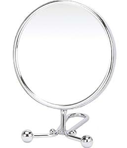 Danielle specchio cosmetico con piedistallo finitura cromata bellezza - Specchio con piedistallo ...