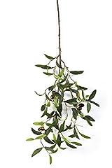 Idea Regalo - Ramo di olivo artificiale con 6 olive, 90 foglie, verde, DELUXE, 65 cm - Ramo finto / Olive decorative - artplants