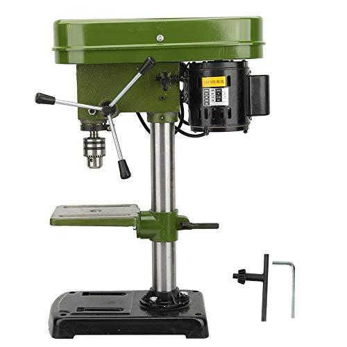 Tischbohrmaschine, Miniatur Elektrische Bodenbohrmaschine Ständer Multifunktionsfräsen Arbeitstisch Fräsmaschine Tischbohrmaschine 5-fach Verstellbar 50mm(EU)