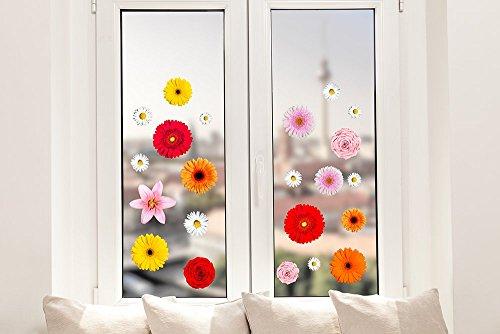 Pixblick Fenstersticker - Bunte Blumenmischung