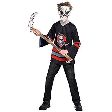 Kids Bloody Face Off Jason Hockey Freddy Dress Up Party Outfit Size - 8-10 Yrs