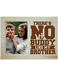 Yaya Cafe Birthday Gifts for Brother, Photo Frame for Table Buddy Brother Engraved Wooden