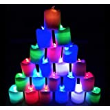 Smokeless Led Multicolor Candle Lights Diwali Special (Pack Of 12 Pcs-4 Colors)
