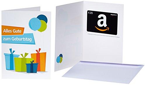 Amazon.de Geschenkkarte in Grußkarte - 20 EUR (Geburtstagsgeschenke)