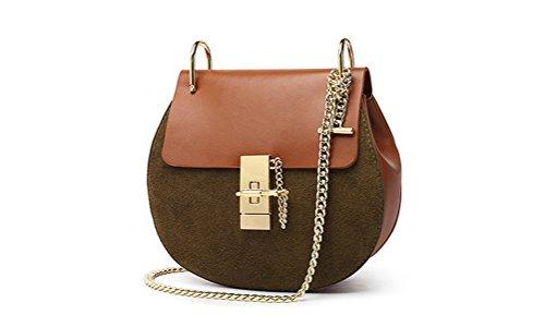 Honeymall Borsa a tracolla spalla Mini borsa / catena maialino nuovo pepe stile retrò moda piccole diagonali Grande Marrone Marrone Grande