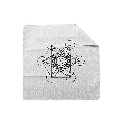 JOVIVI Kristall Grid Tarot Altar Tuch mit Lebensbaum OM Muster 7 Chakra Steine Set Heilung Yoga Energietherapie Edelstein Deko