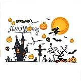 Cczxfcc 90X60Cm Halloween Pumpkins Stitch Wall Stickers Decalcomanie Rimovibili Home Decoration Shop Glass Window Sticker Wall Stickers