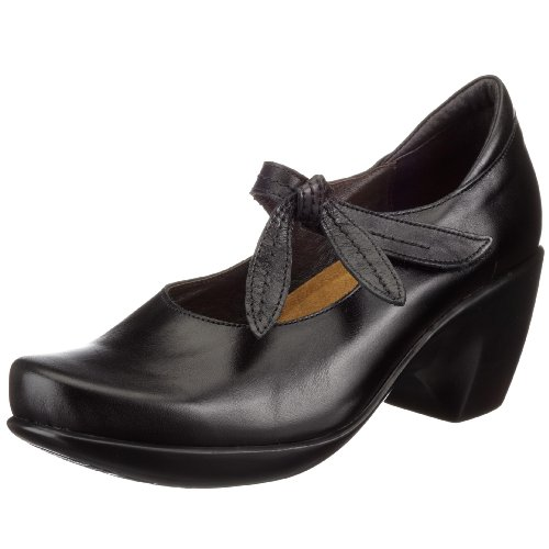 Naot Pleasure, Damen Mary Janes Schwarz/Black Madras