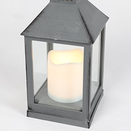 lanterne int rieur ext rieur gris effet m tal vieilli. Black Bedroom Furniture Sets. Home Design Ideas