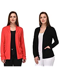 df3cddcfe4 RED-X Women s Viscose Front Open Full Sleeve Shrug Cardigan Sweater Jacket
