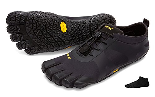 Vibram FiveFingers V-Alpha Men + Zehensocke 11005, Size:42;Color Black/Black