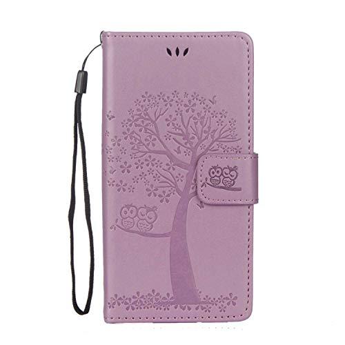 DENDICO Coque Sony Xperia XZS, Coque en Cuir Magnétique Clip Portable Étui Housse Portefeuille avec Slots de Cartes pour Sony Xperia XZS - Violet