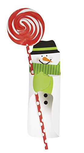 Snowman Christmas Sweet Holders, Pack of 8