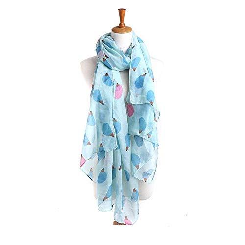 Zolimx Schals für Damen, Frauen-Igel-Muster-langer Schal-warmer Verpackungs-Schal...