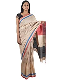 Bihar Khadi Women's Silk Saree (BKSKSRW0006, Multi-Colored)