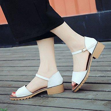 Sandales femmes chaussures printemps été Robe Club PU décontracté Talon Blanc Gris Noir Boucle White
