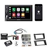 Sony XAV-AX1000 Apple CarPlay Bluetooth USB Moniceiver Autoradio Touchscreen Einbauset für Mercedes E Klasse W211 CLS W219