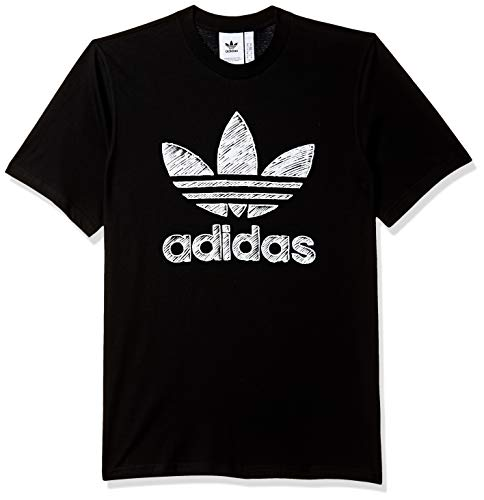 Adidas hand drawn t1, t-shirt uomo, black, m