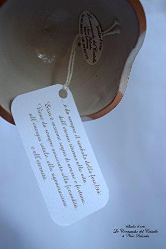 Uovo Porta cioccolatini Porta gioielli Handmade Le Ceramiche del Castello Idea Pasqua Idea Bomboniera Made in Italy Dimensioni 9,50 x 12 centimetri - 5
