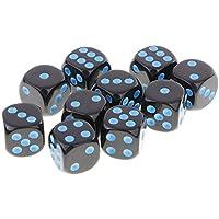 Multi-seitig Spielwürfel 16mm Punkt 10 Stück Sechsseitige D6 Würfel