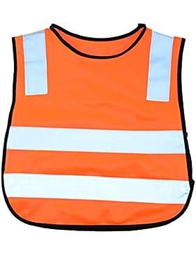 Tinksky Chaleco de seguridad reflectante chaleco de seguridad de color brillante niños para niños regalo de cumpleaños...