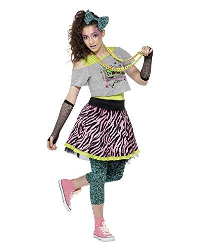 Party Kostüm Bad Taste (80s Bad Taste Damen-Kostüm-Set für Mottopartys)