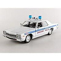 Greenlight Collectibles–84012–Dodge Monaco–Blues Brothers Chicago Police 1980–(escala 1/24–blanco/azul