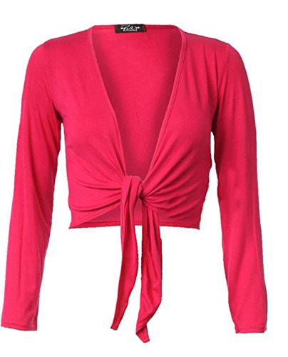 Fashion charming -  Cardigan  - Donna rosa fucsia