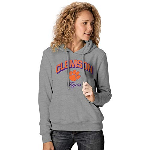 NCAA Damen Premium Campus Classic Goodie Hoodie - mehrere Teams, Größen, Damen, Clemson Tigers - Charcoal, Womens Small -