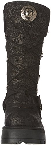 New Rock M 373 Qs3, Stivali Donna Nero (Black (nero))