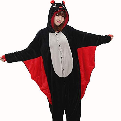 WLJBY Erwachsene Unisex-Karikatur-siamesische Pyjamas, Schläger-Tier, das Kostüme, spezielle Festival-kreative Geschenke Weihnachtslustige Kostüme modelliert,Black,L