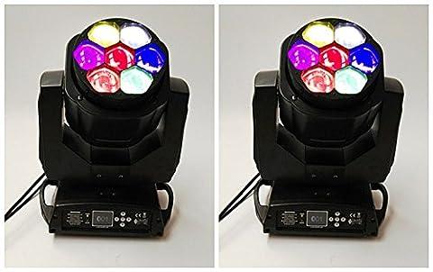 2 poste de police * Bee oeil 7X15w mouvement scène LED tête faisceau lumineux