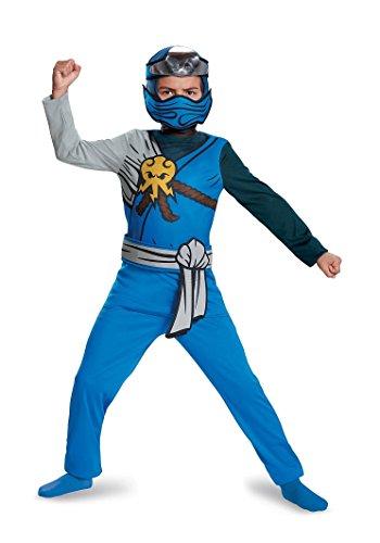 Ninjago Kostüm Jay - Lego Ninjago 10324K Zweiteiler Classic, Jay M (7-8 J.), Jungen, blau, 127-136 cm