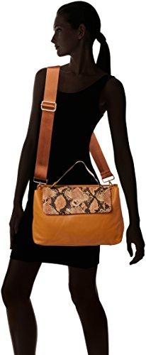 LOLA CASADEMUNT - Bolso Solapa Serpiente, borsa Donna Cammello
