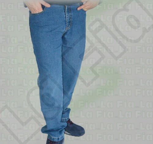 Pantalone jeans pantaloni multitasche lavoro cantiere job cotone 100% tasca portametro tg 52