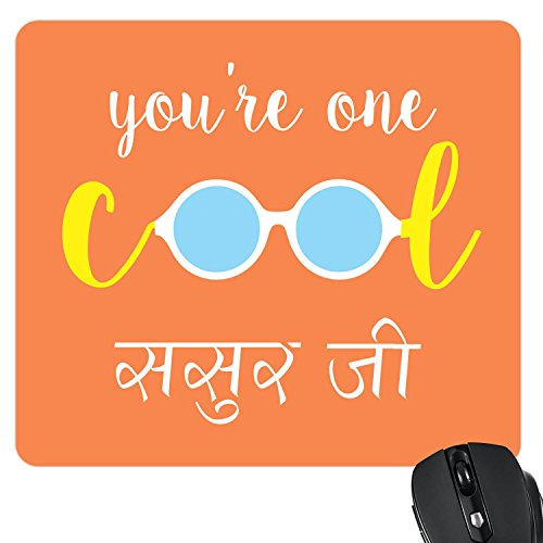 Yaya Cafe Fathers Day Gifts Father in Law, You are My Cool Sasur ji Printed Mouse Pad for Father in Law
