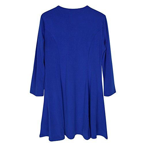 Eleery Fashion Damen Reißverschluss Kleider Sommerkleid Casual Lang Kleid Balu