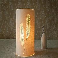 MZMZ regali di Natale Natale Illuminazione lampada a pavimento 1 Light Classic Feather Patten paralume di pergamena 220V