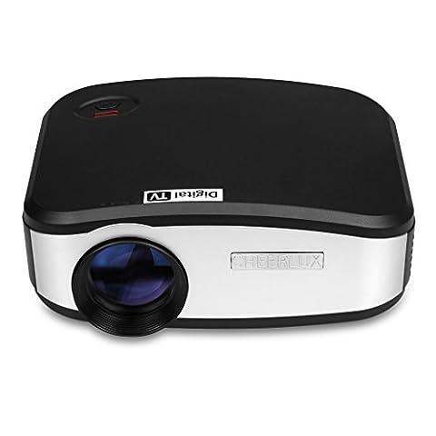 CHEERLUX C6 Mini Projecteur 800x480 Pixels 1200 Lumens Vidéoprojecteur soutenir