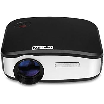CHEERLUX C6 Mini Pico Video Proiettore Portatile per Cinema (Luminosità 1.200  Lumen, Contrasto 1.200:1, Risoluzione Schermo 800*480, Supporto 1080P, Durata Lampada Fino a 50.000 Ore) HDMI/USB/VGA/AV/DTV per PC Laptop Tablet DVD TV Smartphone Android ecc, Nero