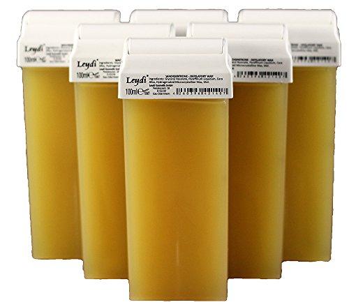 Leydi Warmwachspatronen Honig 6 Stück je 100ml - Nachfüllset Wachspatrone -