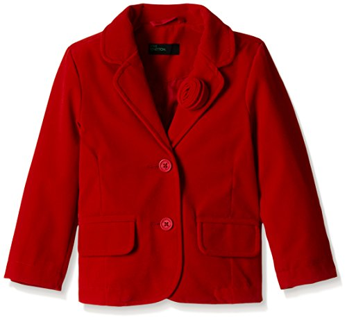 United Colors of Benetton Baby Girls' Jacket (16A2JACK0016IK111Y_Red_1Y)