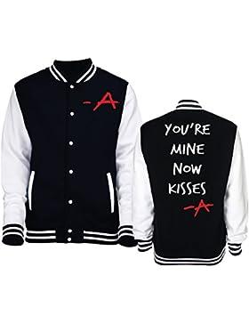 Giacca/felpa unisex Varsity tipo College Pll Kisses A-New Indastria - L-NERA