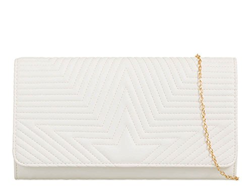 Hautefordiva , Damen Clutch rose M weiß