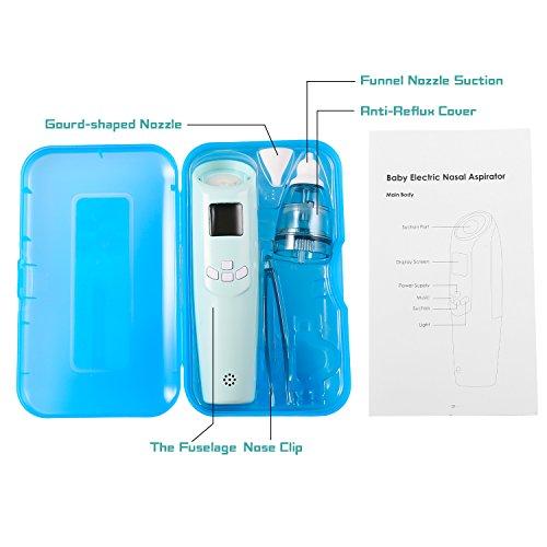 Smibie Baby Nasensauger Musik Nasenreiniger Nasal Aspirator mit Licht 3 Betriebsstufen und LCD-Anzeige - 7