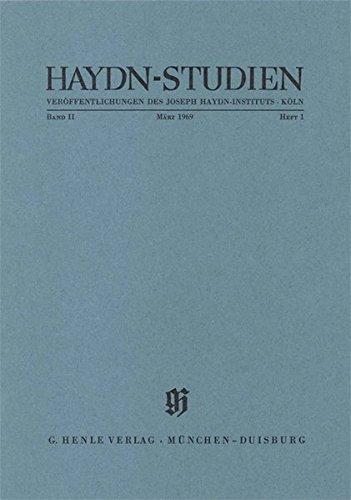 Haydn Studien. Veröffentlichungen des Joseph Haydn-Instituts Köln. Band II, Heft 1, März 1969