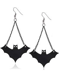 a907158eaaee Pendientes de Halloween con diseño de murciélago negro